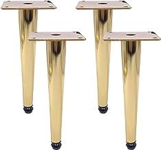 Meubelpoten, goud, verstelbaar, belastbaar tot 800 kg, salontafel, poten, tv-kast, voeten, banken, tafelpoten, galvanische...