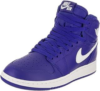 a7456c0313b4 Baskets AIR Jordan pour Enfants 1 Retro High OG (GS) en Cuir Bleu 575441