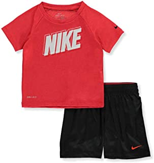 Nike Boys' 2-Piece Shorts Set Outfit - red Multi, 12 Months