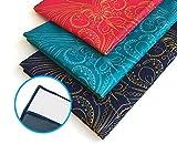 Mymandala Serviette de yoga 61 x 182,9 cm - antidérapant, Ultra absorbant, Super Doux et confortable en microfibre chaud Serviette de yoga. lavable en machine. Idéal pour le Hot Yoga, Pilates, Sports