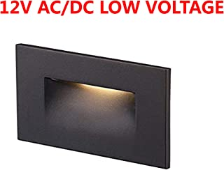 Cloudy Bay 12V Low Voltage LED Step Light,3000K Warm White,Stair Light,Oil Rubbed Bronze