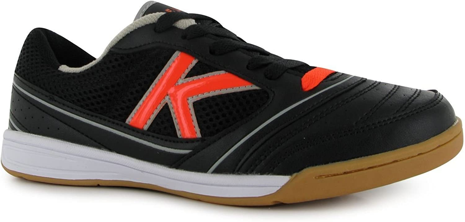 Kelme America Indoor Football Futsal Trainers Mens Black orange Soccer Sneakers