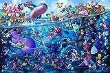 Puzzle Pokémon decorativo, Gran rompecabezas de madera, pedazos 300/520/1000, carta de recordatorio, los niños adultos de descompresión juguetes educativos, juguetes de DIY montado, regalos del día de