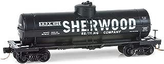 Micro-Trains MTL N-Scale 39ft Single Dome Tank Car - Sherwood Refining Co. #4129