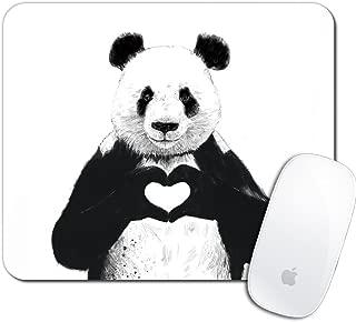 Royal Up Panda Custom Mouse Pad Gaming Mat Keyboard Pad Waterproof Material Non-slip Personalized Rectangle Mouse pad (9.4x7.8x0.08Inch)