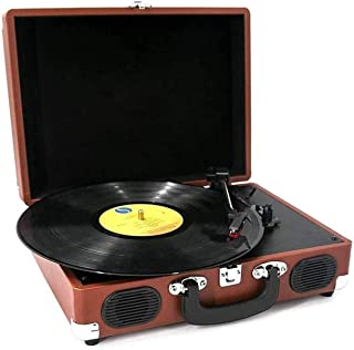 $383 » DSWHM Exquisite and Elegant Vinyl Record Player Vintage Phonograph Retro Turntable Disc Portable Record Player Bluetooth LP