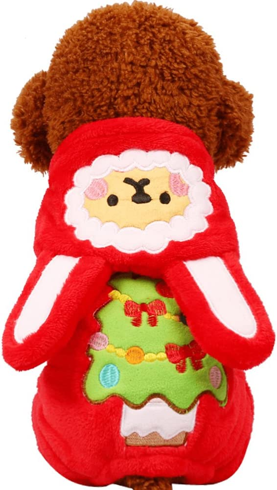 Tromy Los Angeles Mall Pet Clothes Dog Cute Christmas Tree 2 Hoodie Garland Style It is very popular