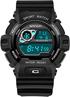 Outdoor Sports Watch, Multi-Functions Digital Watch Waterproof Military Watch with Alarm and Stopwatch