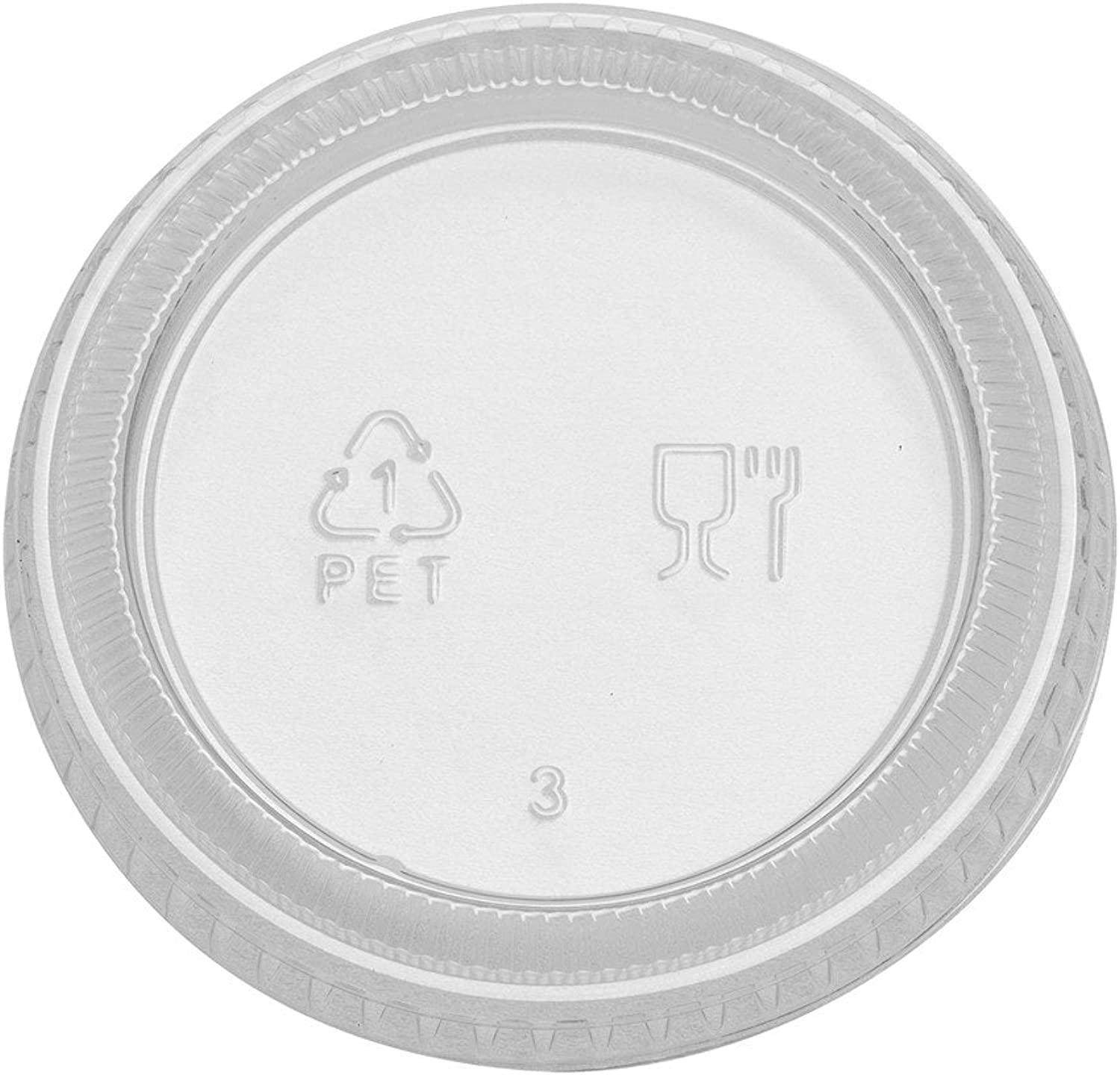 Dixie 1.5 or 2 oz., Plastic Portion Cup Lid by GP PRO (Georgia-Pacific), Clear, PL20CLEAR, 2,400 Count (Case of 12 Sleeves, 200 Lids Per Sleeve)