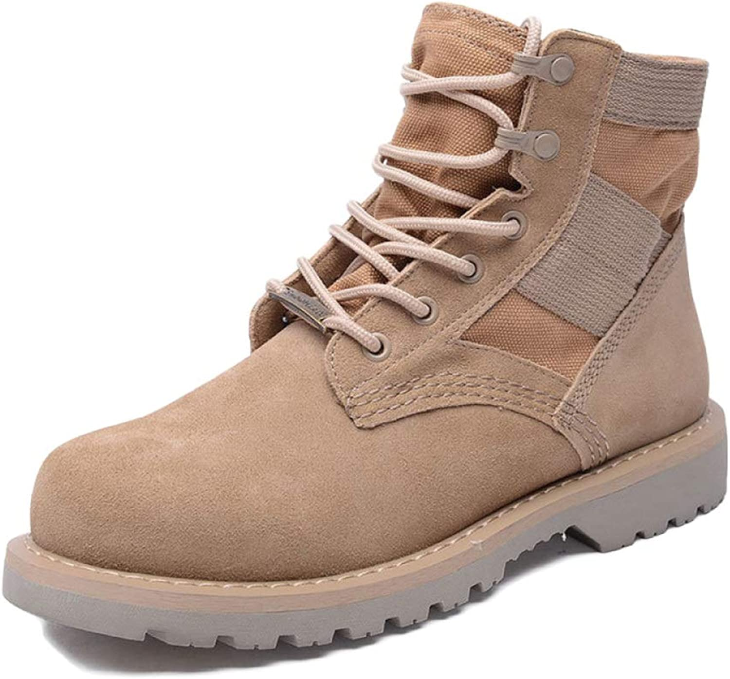 Men's Boots Adult Retro Martin Boots Leather Slip Breathable Desert Boots Work Boots Fighting Snow Boots