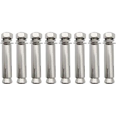 3 Pcs L-A M10x60 304 Stainless Steel External Hex Expansion Bolt Screw Sleeve Anchor Expansion Screw Bolt Burst