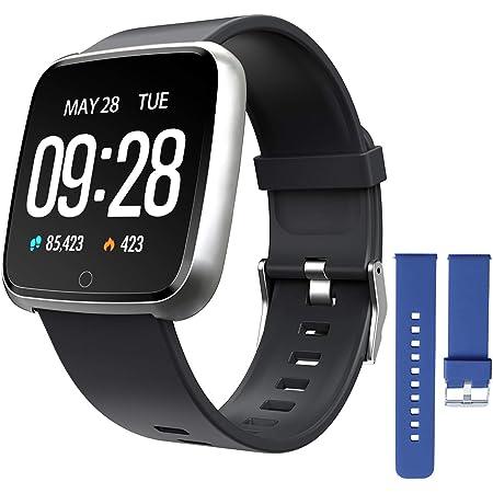 ZKCREATION Smartwatch, Reloj Inteligente Pulsera Actividad con Pulsómetro Podómetro Calorie Monitoreo del sueño Impermeable Relojes Inteligentes para Hombre Mujer para Android iOS