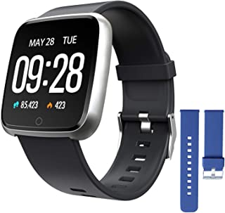 ZKCREATION Smartwatch, Reloj Inteligente Pulsera Actividad con Pulsómetro Podómetro Calorie Monitoreo del sueño Impermeabl...