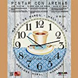Arenart - Set Pintar con Arenas de Colores - Reloj Café au Lait Ø 38 cm