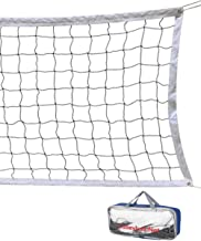 Volleyball Net 32 FT x 3 FT Beach Volleyball Net Portable Official Standard Size Indoor Outdoor Sports Training Equipment/...