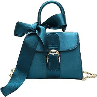 حقائب يد نسائية من Saien-E مع وشاح حرير، جلد PU بمقبض علوي حقيبة كتف وحقائب يد للنساء للاستخدام اليومي