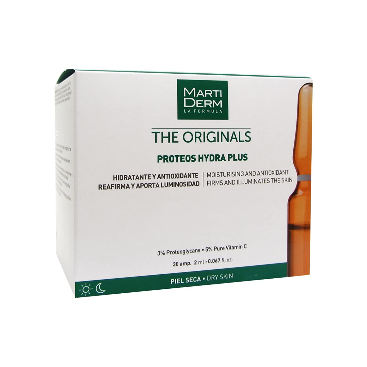アルミニウム連続的月曜Martiderm The Originals Proteos Hydra Plus Ampoules 30amp. [並行輸入品]