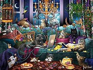 Buffalo Games - Quarantine Cats - 750 Piece Jigsaw Puzzle by Buffalo Games