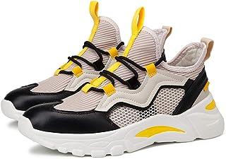 Men Shock Absorbing Mesh Sneakers Casual Breathable Summer Sneakers Low Top Walking Athletic Trainers