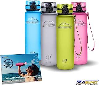 NEWSUMIT Botella De Agua Deportiva Superior - BPA Free Tritan - Todo Uso - Deporte - Gimnasio - Hogar - Oficina.