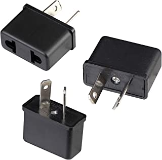 3Pcs Universal EU/US to AU NZ Power Plug Travel Adapter Converter 2 Flat Pin for Australia New Zealand
