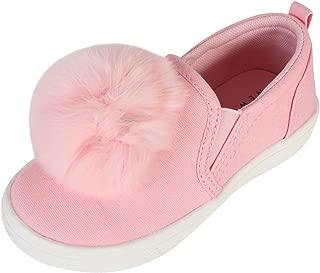 Nicole Miller New York Toddler Girls Canvas Slip On Pom Pom Sneakers (Toddler)