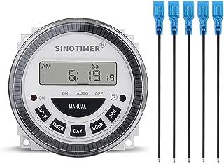 SINOTIMER TM619-4 DC 12V 16A 5 PINS 1NO+1NC Digital Solar Timer Module with Sleep Mode and AM/PM Display