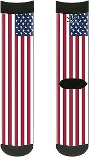 جوارب للجنسين البالغين من باكل-داون، طاقم أعلام الولايات المتحدة، متعدد الألوان