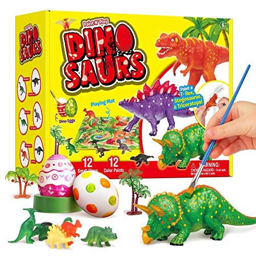 ARANEE Dinosaurio Pintar Juegos para Niños, Pintar Dinosaurios, Juguetes de Dinosaurios para Manualidades Creativo DIY Dinosaurio Navidad Regalos