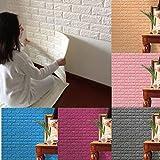 Hot Sale!!! Wall Decals,Jushye PE Foam 3D Wallpaper DIY Wall Stickers Wall Decor Embossed Brick Stone (Brown)