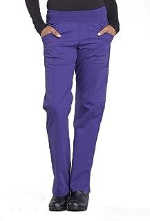 Cherokee Women's Professionals Ww170 Mid Rise Straight Leg Pull-On Pant