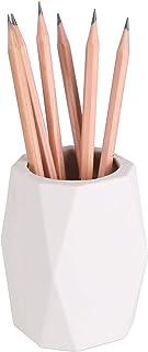 نگهدارنده مداد سیلیکونی یوسکو جام قلم هندسی مخصوص نگهدارنده قلم مو آرایش دهنده دسکتاپ لوازم التحریر (سفید)
