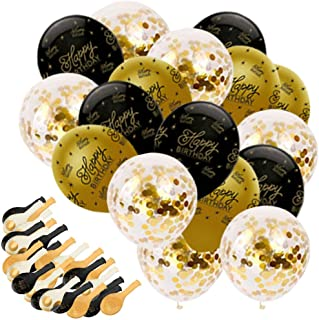 Party Propz 15 Pcs Happy Birthday Confetti Balloons for Birthday Decoration Items or Happy Birthday Balloons for Decoratio...