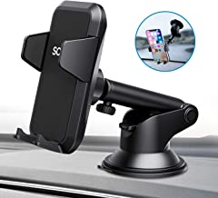 Car Phone Mount 360 Degree Rotation Car Phone Holder Dashboard Phone Holder for Car, Universal Handsfree Cell Phone Car Mount with iPhone 11/XR/XS/X/8/7/Plus Galaxy S10/S10+/S9/Note 9 HTC LG