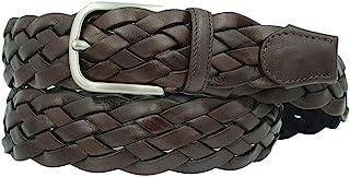 ESPERANTO Cintura intrecciata vero cuoio unisex 4 cm artigianale accorciabile - 3 varianti