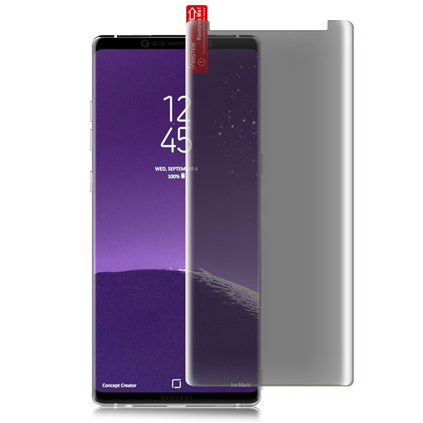 Compatible with Samsung Galaxy Note 8 Screen Protector, Insten [2-Pack] Privacy Anti-Spy 9H Hardness Tempered Glass Full Screen Coverage/Bubble-Free/Anti-Scratch Compatible with Samsung Galaxy Note 8