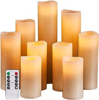 مصباح LED من Sunbaca بدون لهب مصباح وميض ساطع يعمل بالبطارية مصباح الشاي مع شمعة وهمية لهب واقعي لعيد الميلاد/الزفاف/