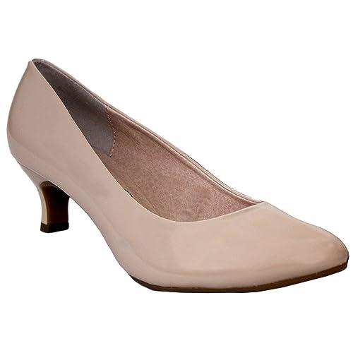 6001e967174dc Comfort Plus® Ladies Kitten Heels Womens Flexi Sole Court Shoes Pumps Wide  E Fitting Classic