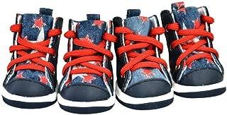SENERY Winter Dog Shoes Jean Puppy Snow Boots Warm Waterproof Casual Slip-Resistant Waterproof Pet Sneaker Teddy