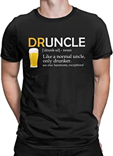 Druncle Beer Funny Fun T Shirt Drunk Uncle Gifts Tees Tops for Men