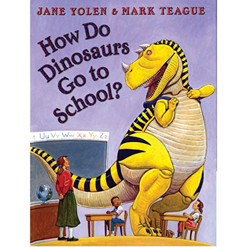 How Do Dinosaurs Go to School? audiobook cover art