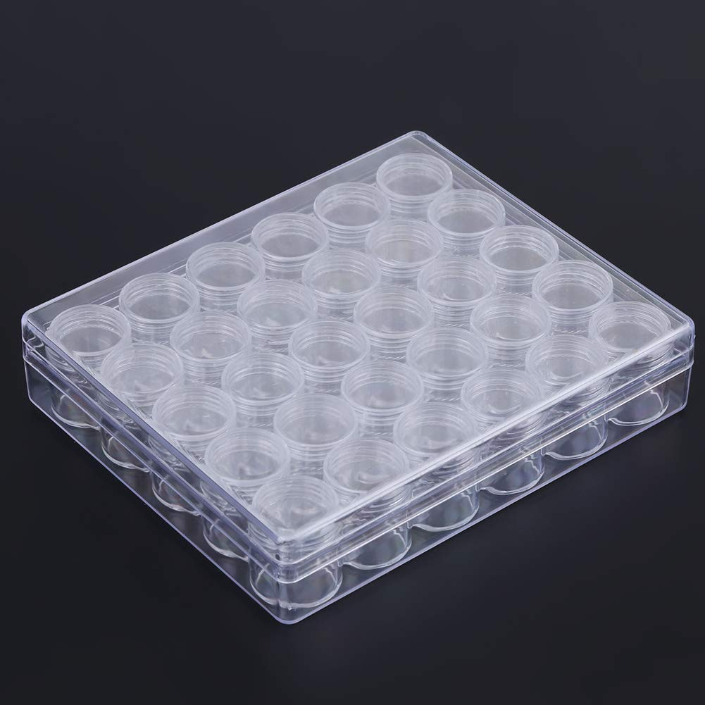New life Plastic Clear Jars with Lids Genuine Free Shipping Jewelry Bead contai Storage