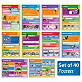 """Physical Education Posters - Set of 40 