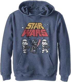 STAR WARS Boys Darth Vader Pullover Hoodie Sweatshirt Black Fleece Size S M NWT