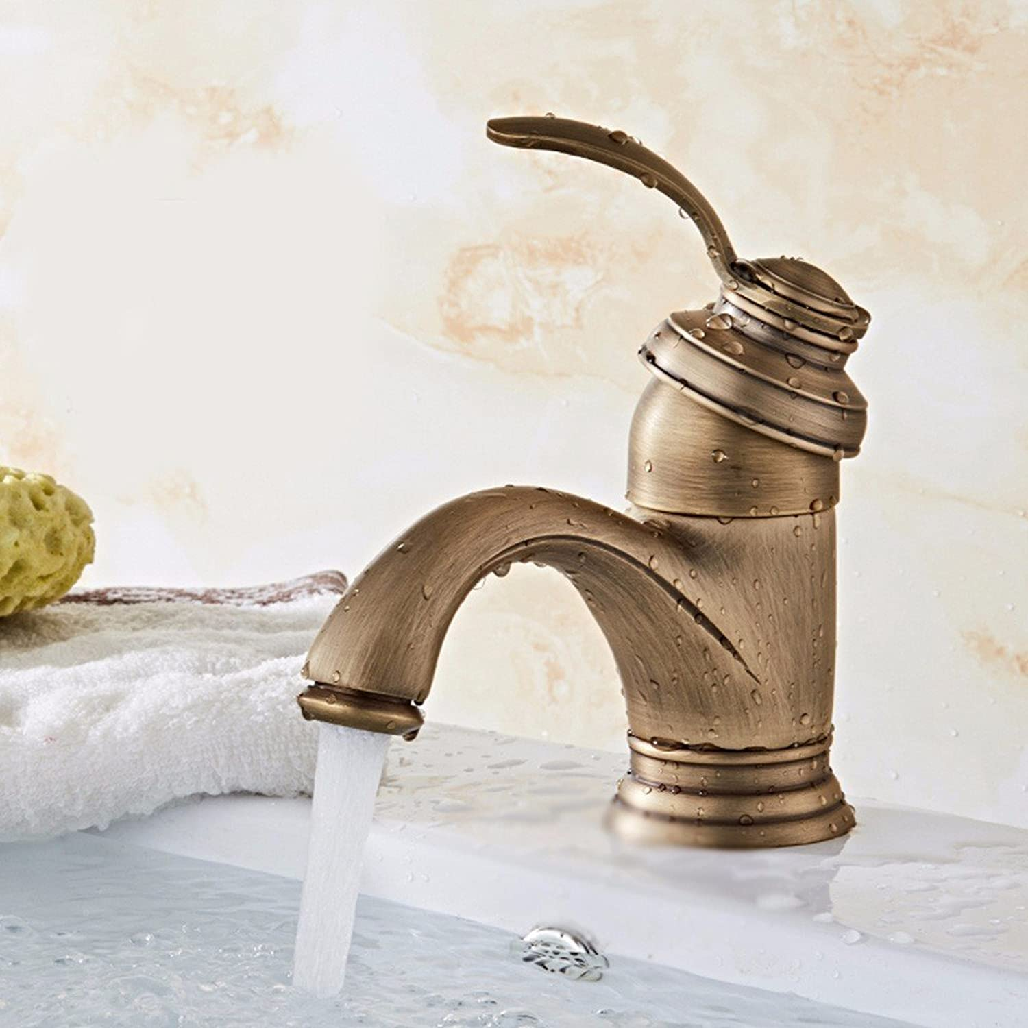 Hlluya Professional Sink Mixer Tap Kitchen Faucet Copper, bath, basin, hot and cold, and the sink faucet, 1