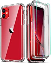 COOLQO Compatible for iPhone 11 Case, with [2 x Tempered Glass Screen Protector] Clear 360 Full Body Coverage Hard PC+Soft...