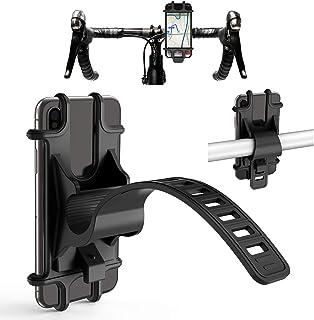 CTXTKER Bike Phone Mount, Universal Adjustable Handlebar Mobile Phone Seat Suitable for Mountain...