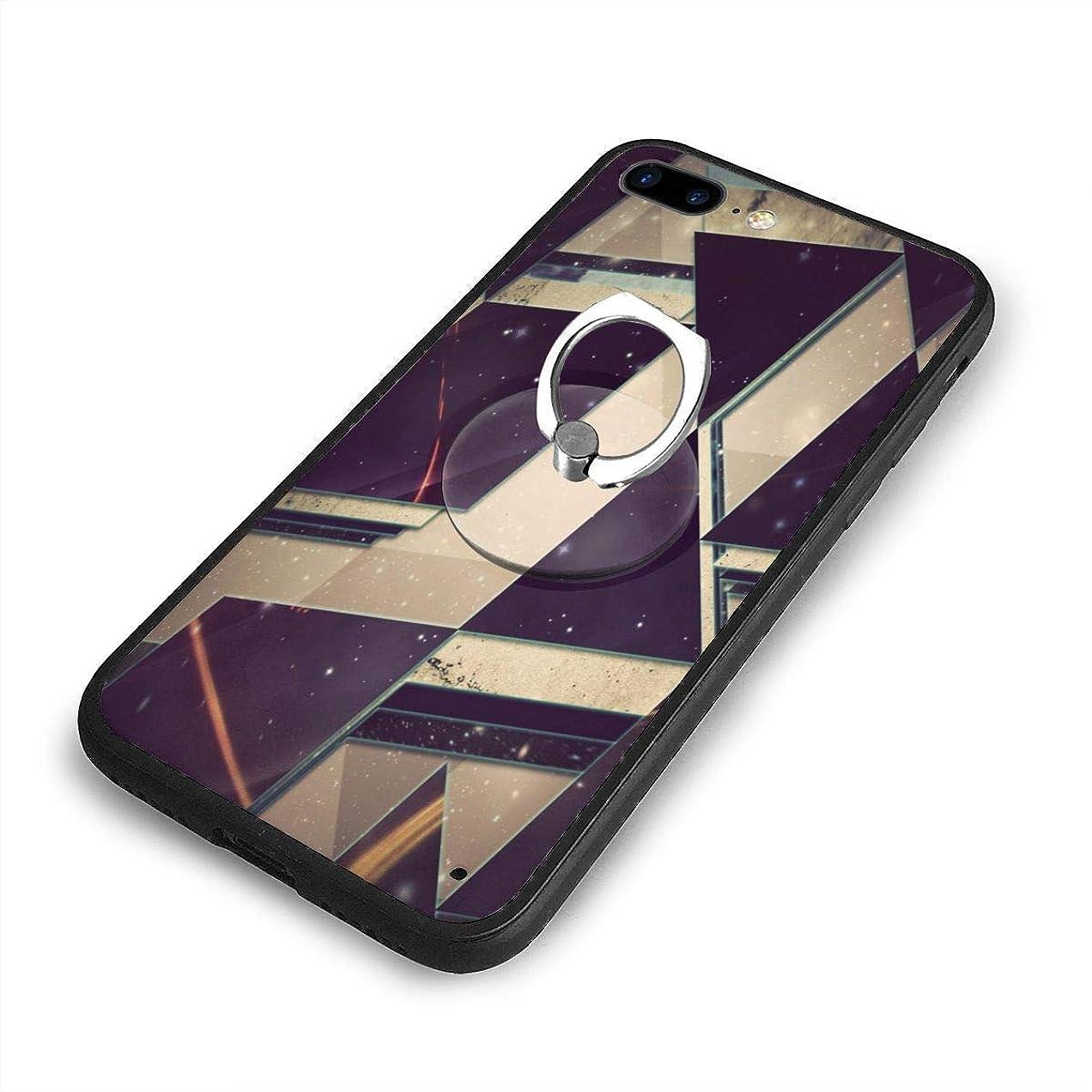 ウォーターフロント発掘バリー3DトライアングルiPhone 7/8 Plusケースリングブラケット 携帯カバー 創意デザイン軽量 傷つけ防止 360°回転ブラケット 携帯ケース PC 衝撃防止 全面保護