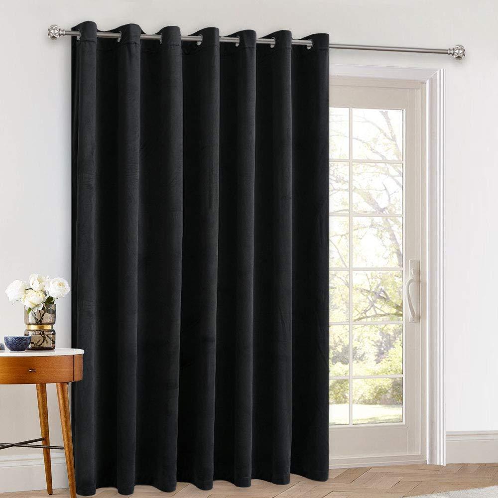 Stang Velvet Blackout Curtains Black