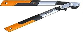 Fiskars PowerGear X Bypass Gear Scissors for Fresh Wood, Non-stick Coated, Hardened Precision Steel, Length: 57 cm, Black/...